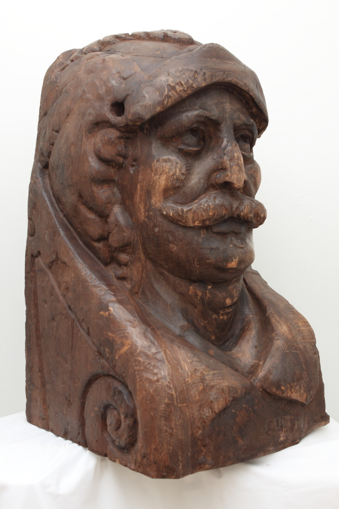 Side View of CNC Reproduction for Poole Museum and The Heritage Lottery Fund. Dutch Maritime Figure Head