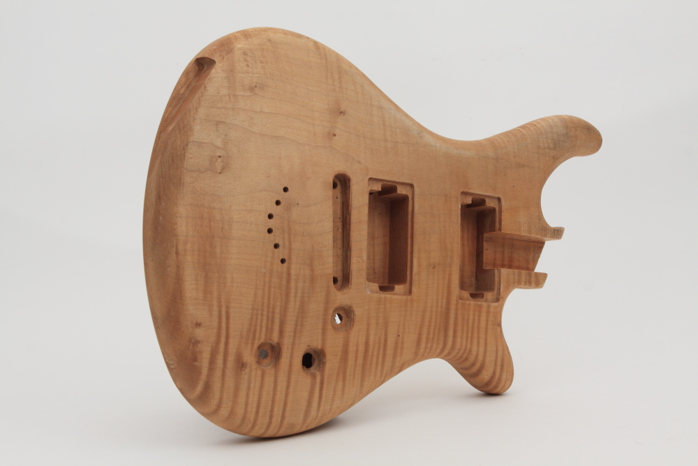 Front view of a solid guitar made by CN